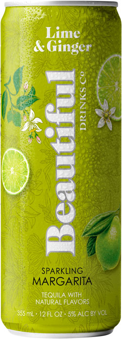 Lime & Ginger Sparkling Margarita - Beautiful Drinks Company